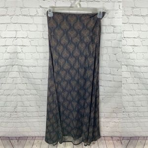 Lularoe Classic Maxi Skirt Grey Neutral Print Med